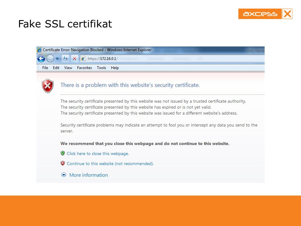 Fake SSL certifikat