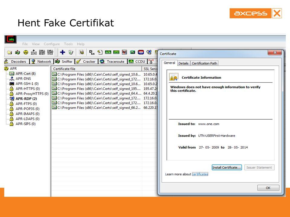 Hent Fake Certifikat