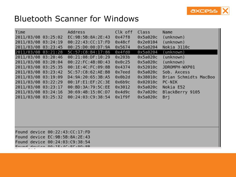 Bluetooth Scanner for Windows
