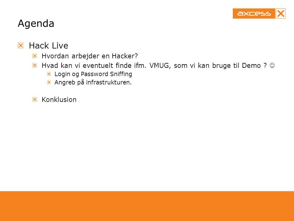 Agenda Hack Live Hvordan arbejder en Hacker