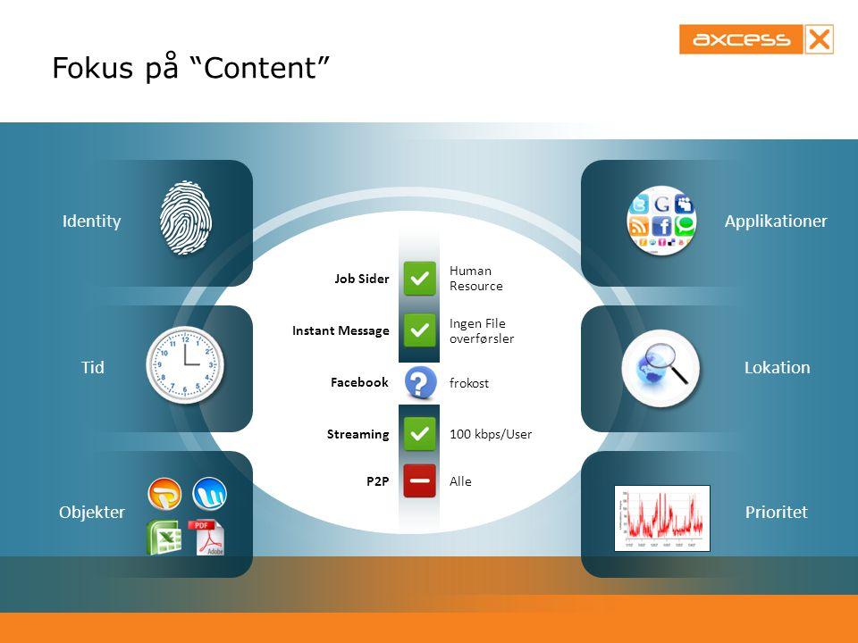 Fokus på Content Identity Applikationer Tid Lokation Objekter