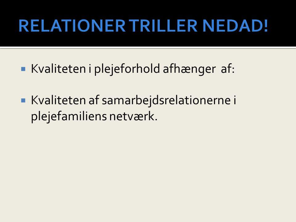 RELATIONER TRILLER NEDAD!