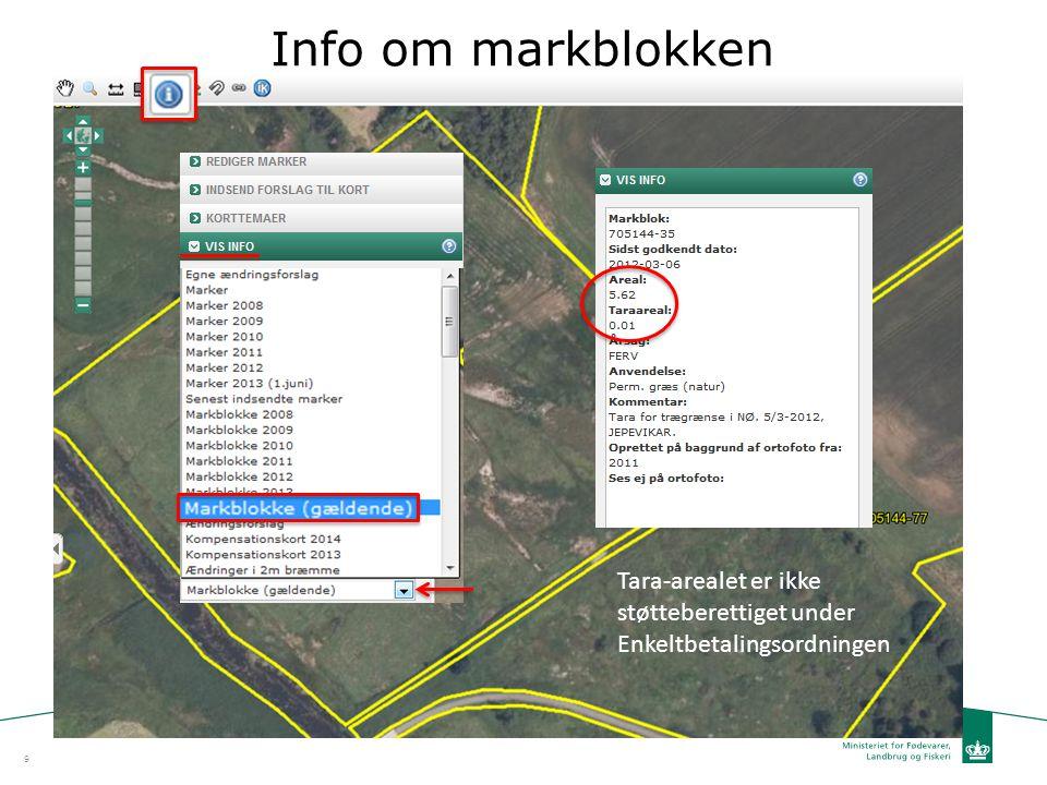 Info om markblokken Tara-arealet er ikke støtteberettiget under Enkeltbetalingsordningen