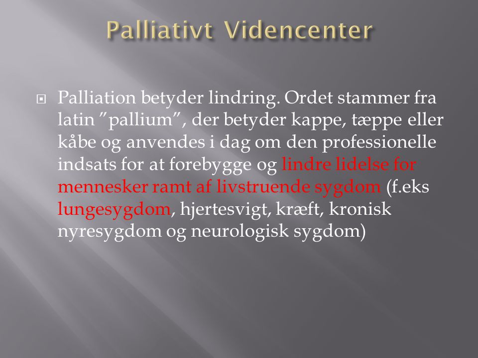 Palliativt Videncenter