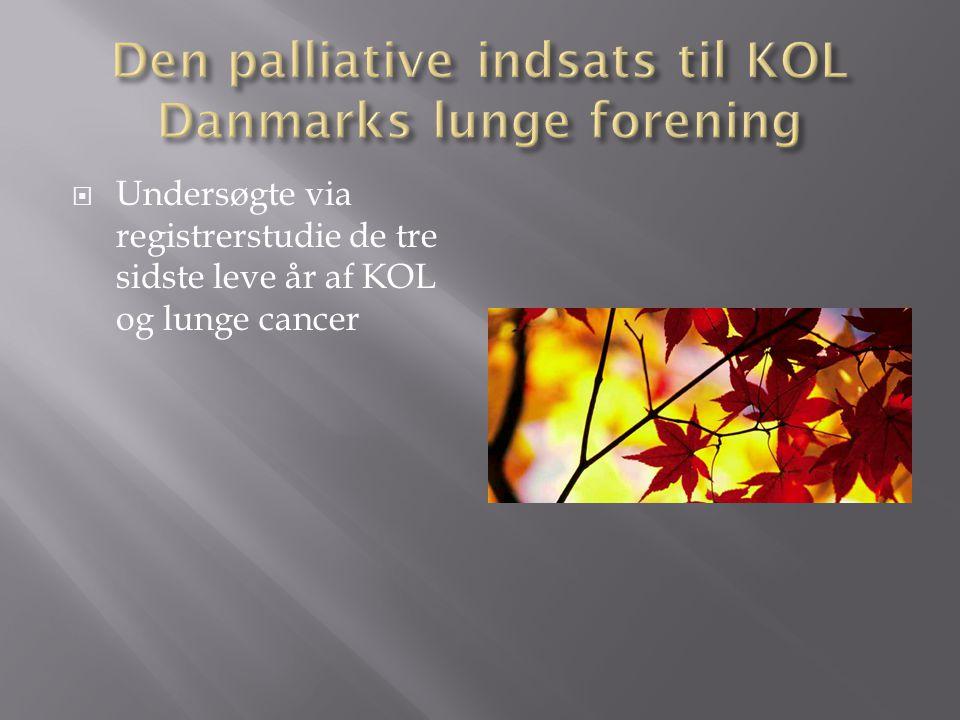 Den palliative indsats til KOL Danmarks lunge forening
