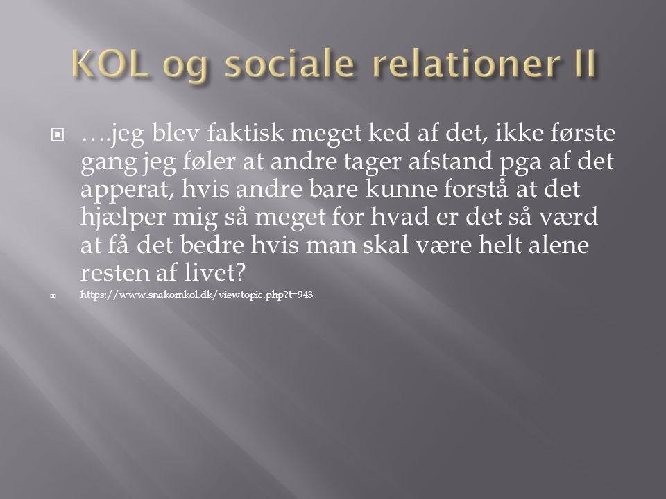 KOL og sociale relationer II