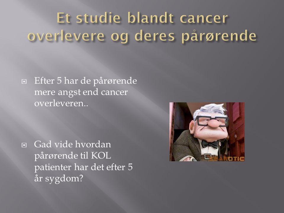 Et studie blandt cancer overlevere og deres pårørende