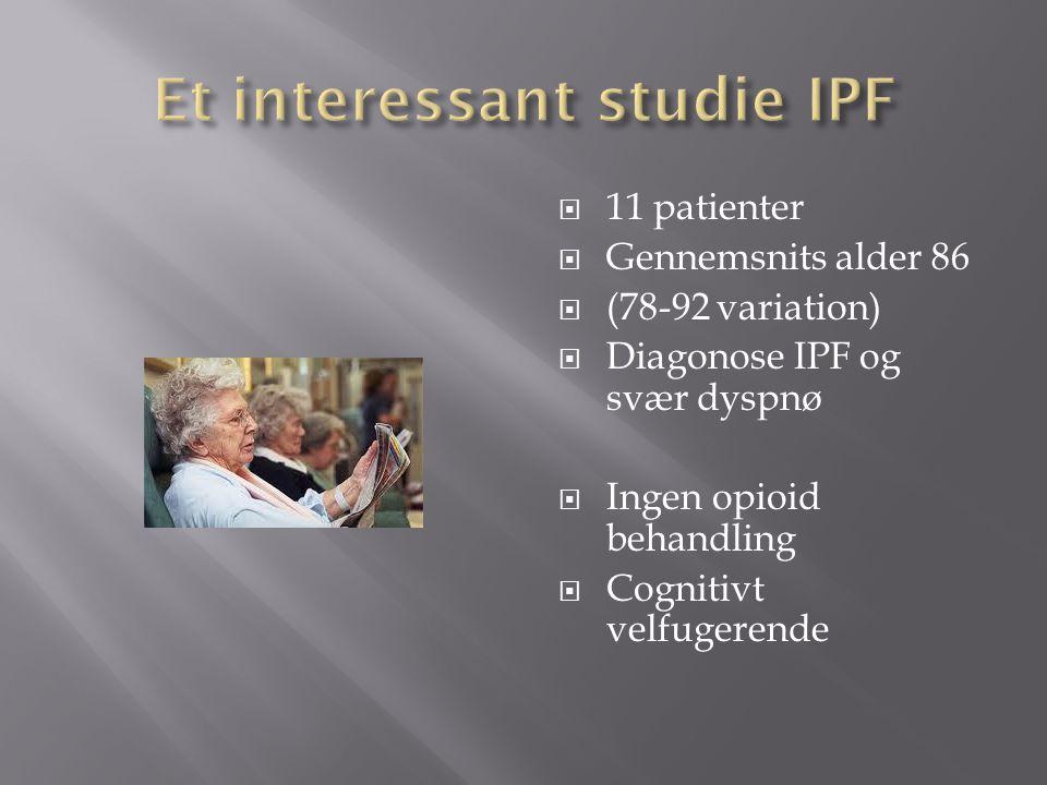Et interessant studie IPF