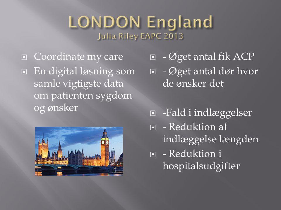 LONDON England Julia Riley EAPC 2013