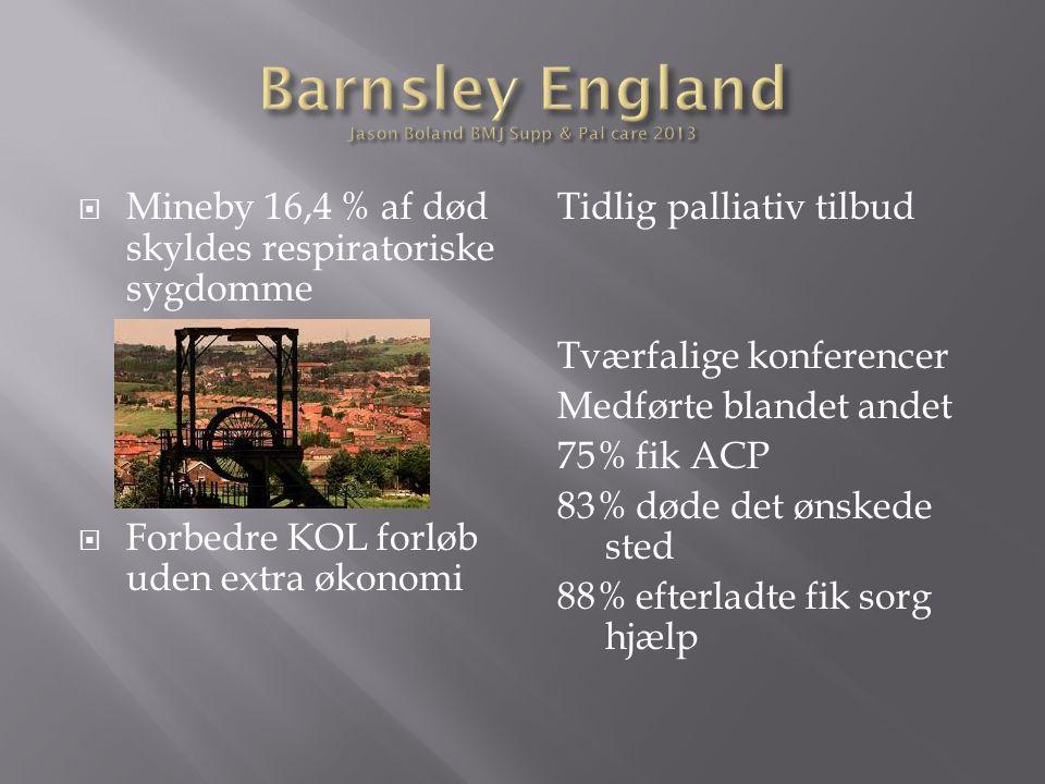 Barnsley England Jason Boland BMJ Supp & Pal care 2013