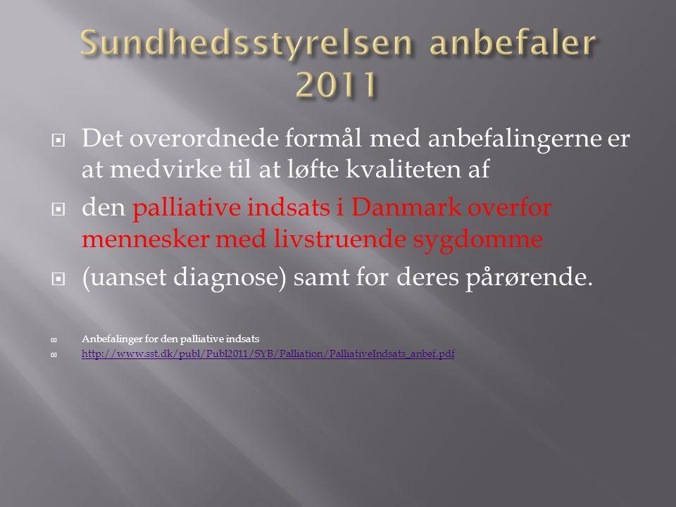 Sundhedsstyrelsen anbefaler 2011