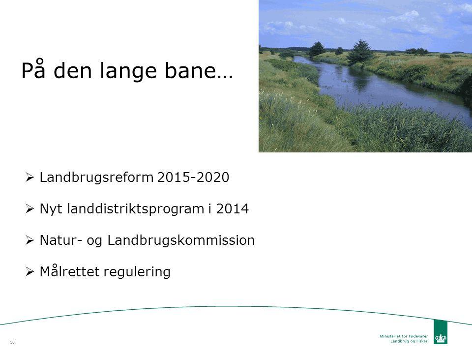 På den lange bane… Landbrugsreform 2015-2020