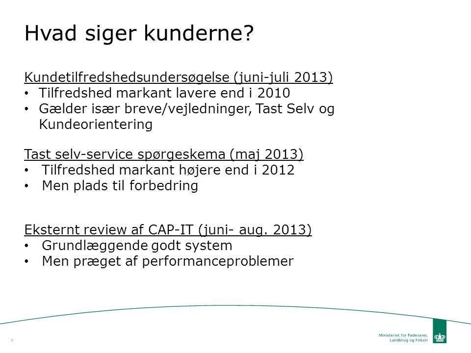 Hvad siger kunderne Kundetilfredshedsundersøgelse (juni-juli 2013)