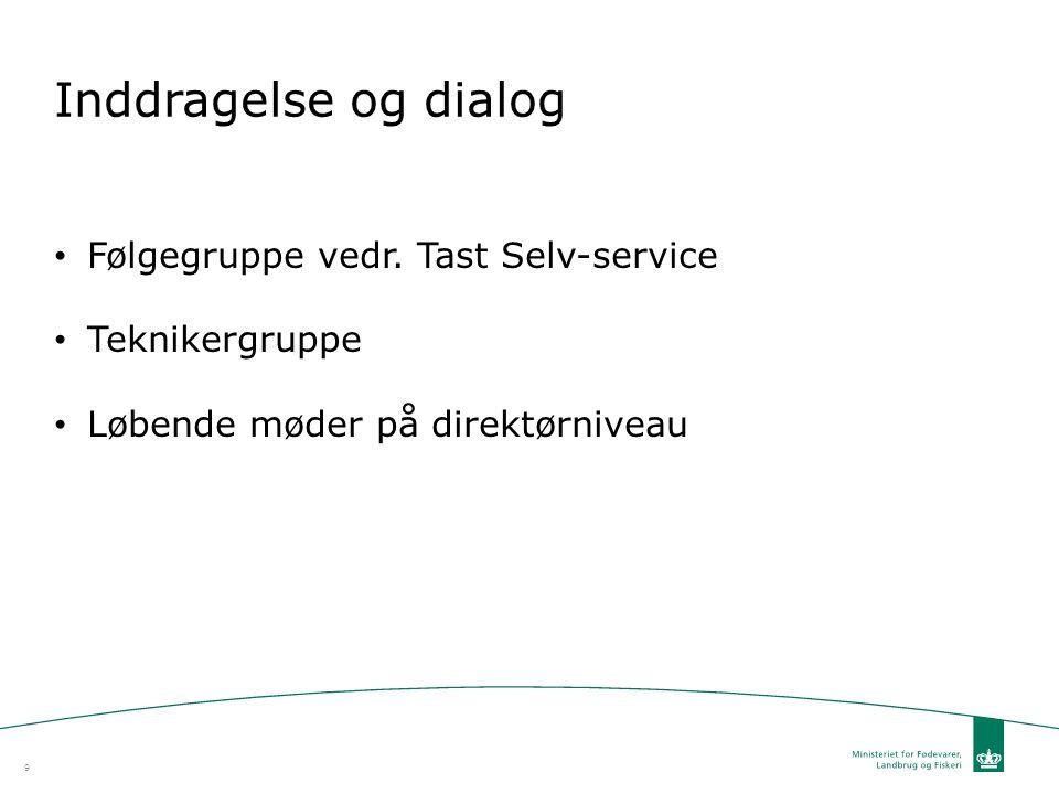 Inddragelse og dialog Følgegruppe vedr. Tast Selv-service
