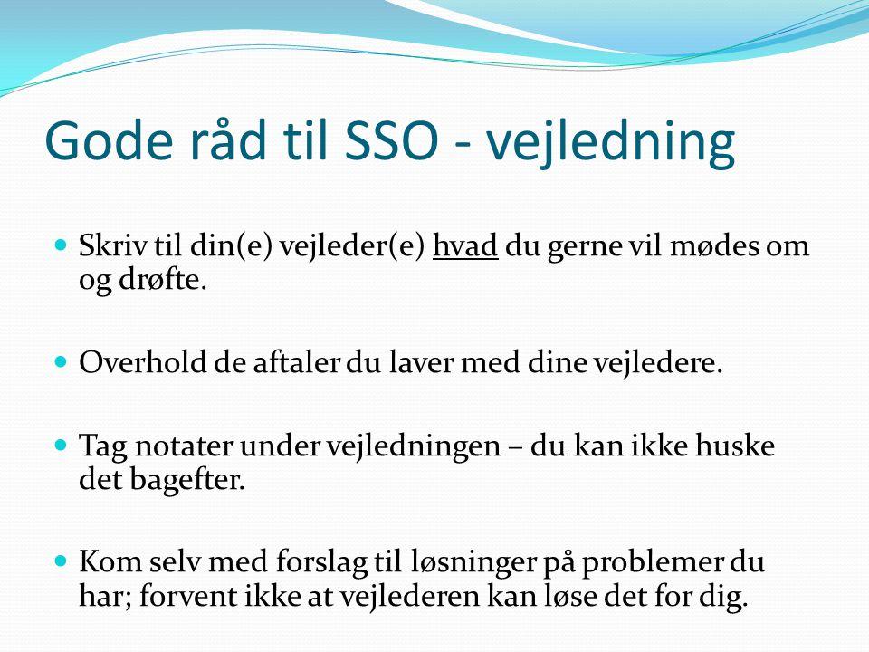 Gode råd til SSO - vejledning