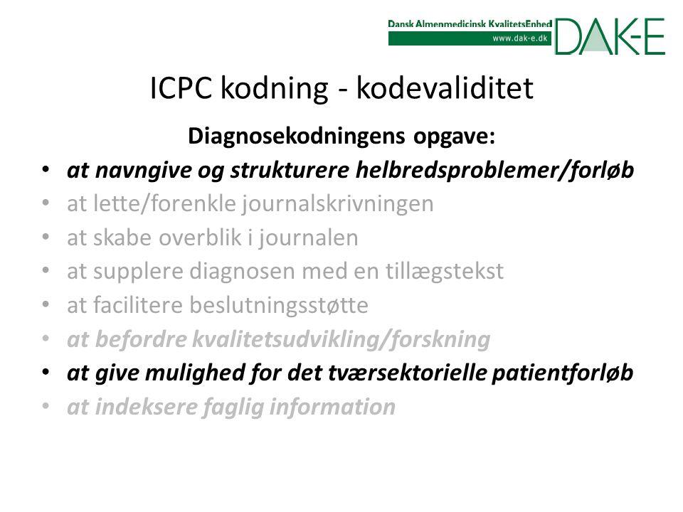 ICPC kodning - kodevaliditet