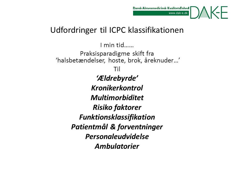 Udfordringer til ICPC klassifikationen