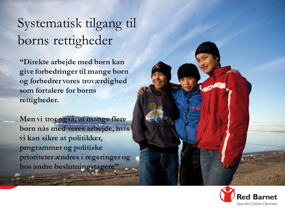Systematisk tilgang til børns rettigheder