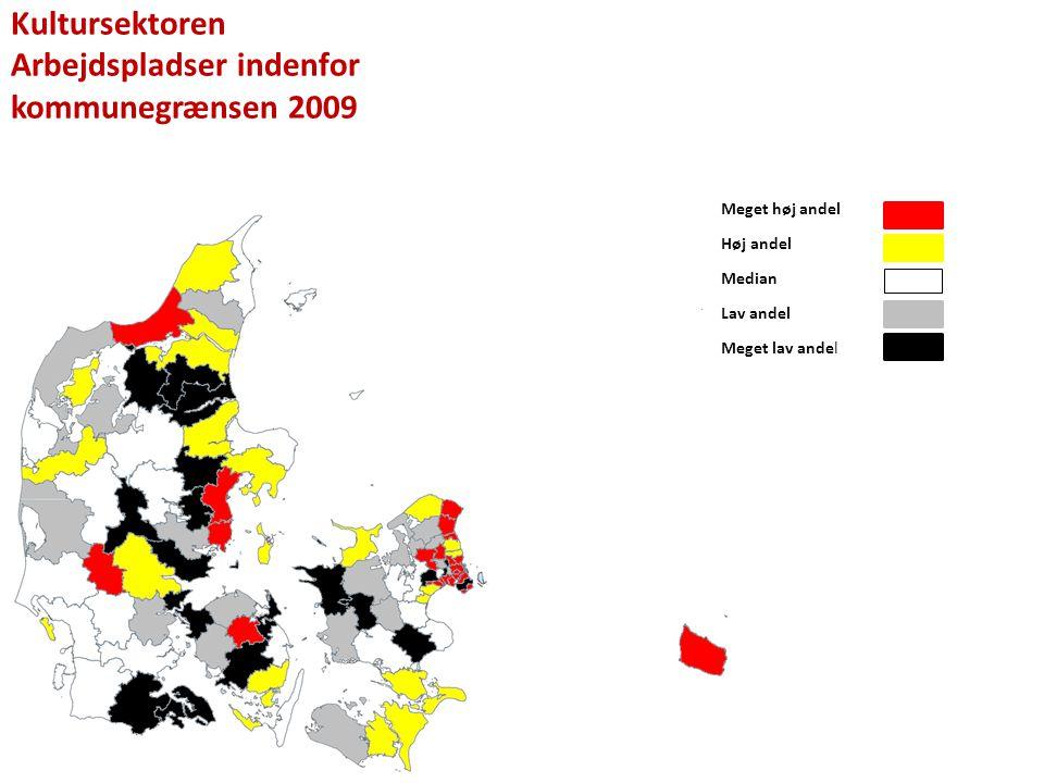 Arbejdspladser indenfor kommunegrænsen 2009