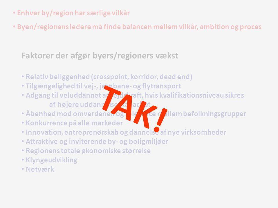 TAK! Faktorer der afgør byers/regioners vækst