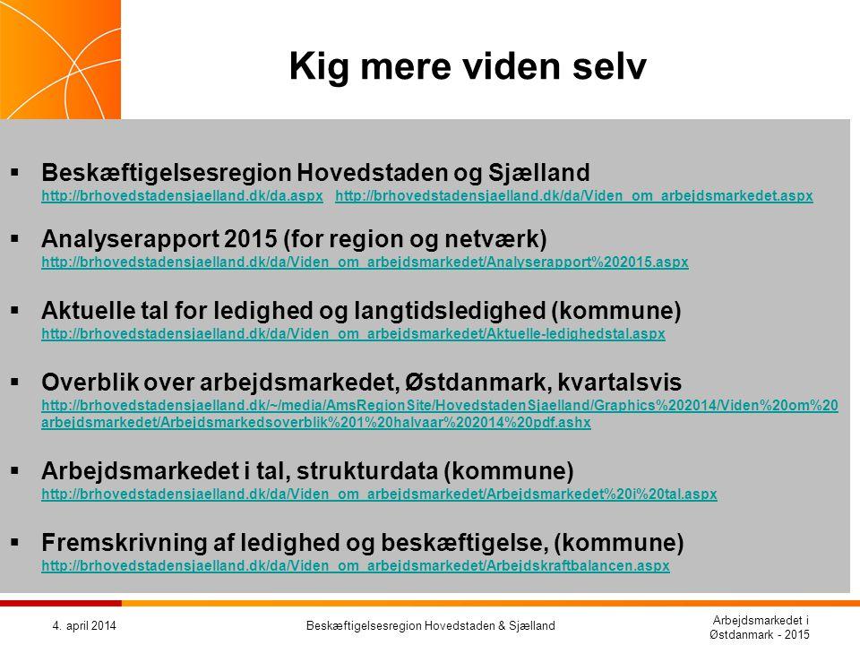 Beskæftigelsesregion Hovedstaden & Sjælland