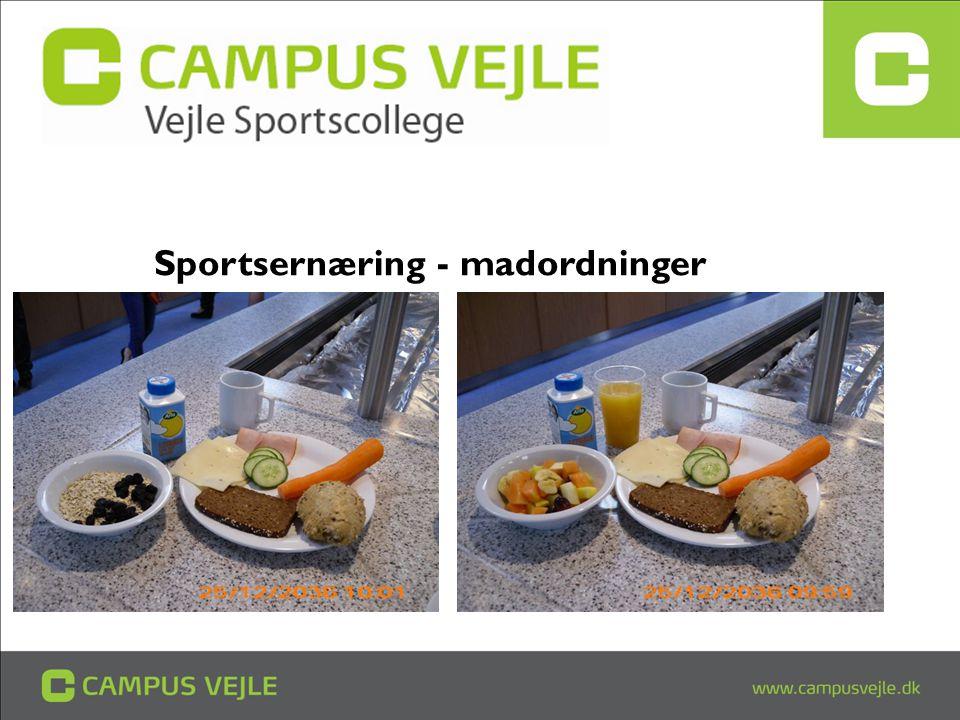 Sportsernæring - madordninger