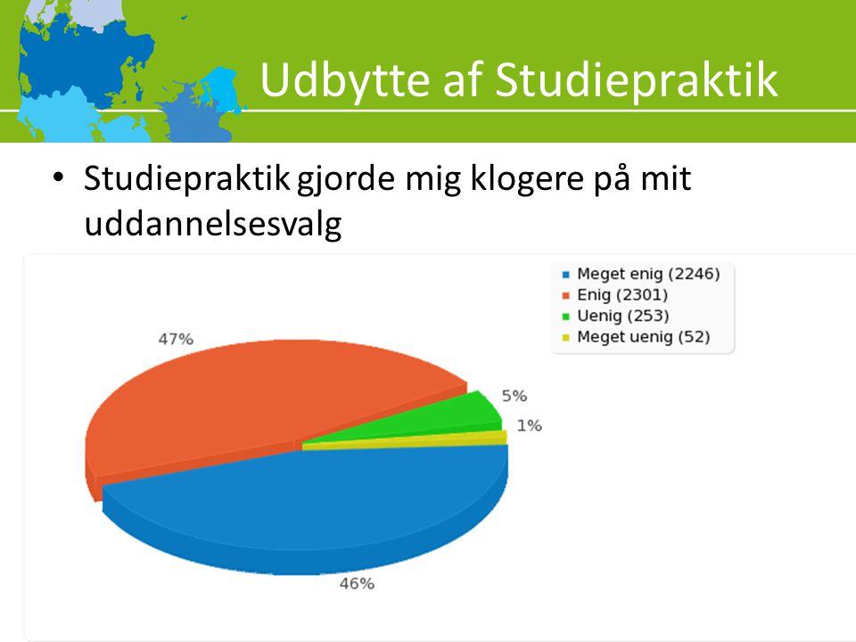 Udbytte af Studiepraktik
