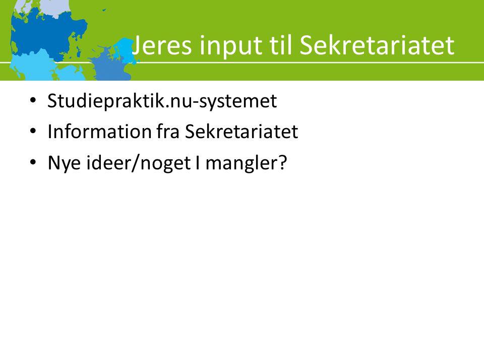 Jeres input til Sekretariatet