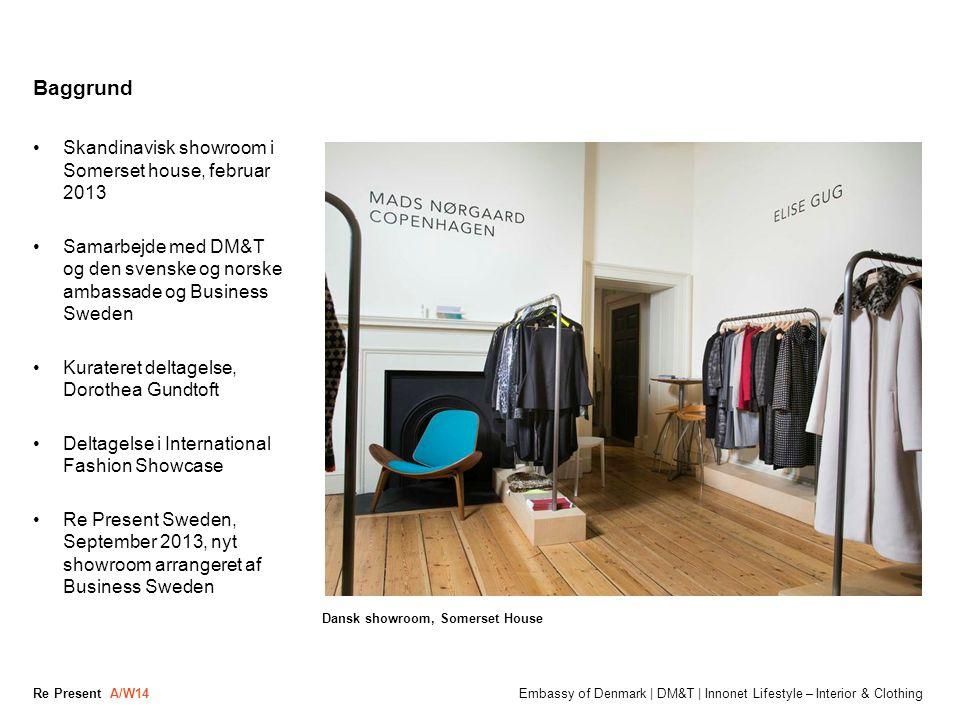 Baggrund Skandinavisk showroom i Somerset house, februar 2013