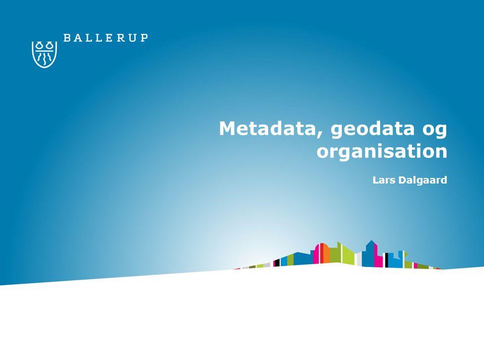 Metadata, geodata og organisation