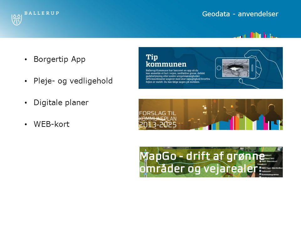 Borgertip App Pleje- og vedligehold Digitale planer WEB-kort