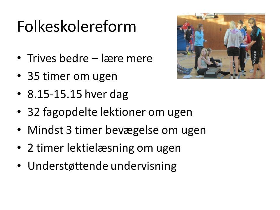 Folkeskolereform Trives bedre – lære mere 35 timer om ugen