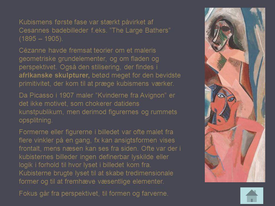 Kubismens første fase var stærkt påvirket af Cesannes badebilleder f