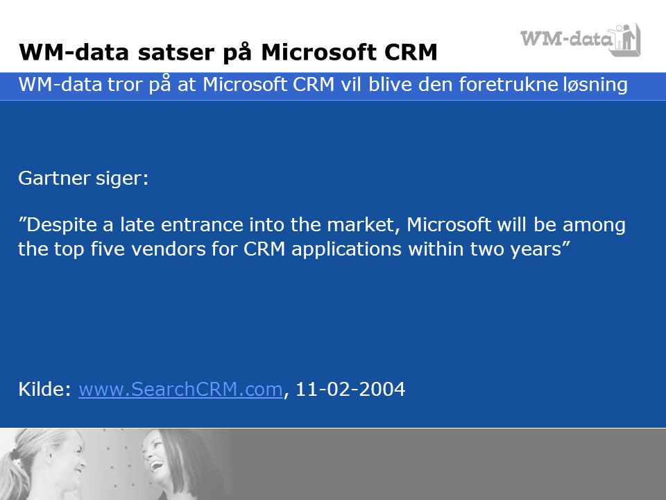WM-data satser på Microsoft CRM