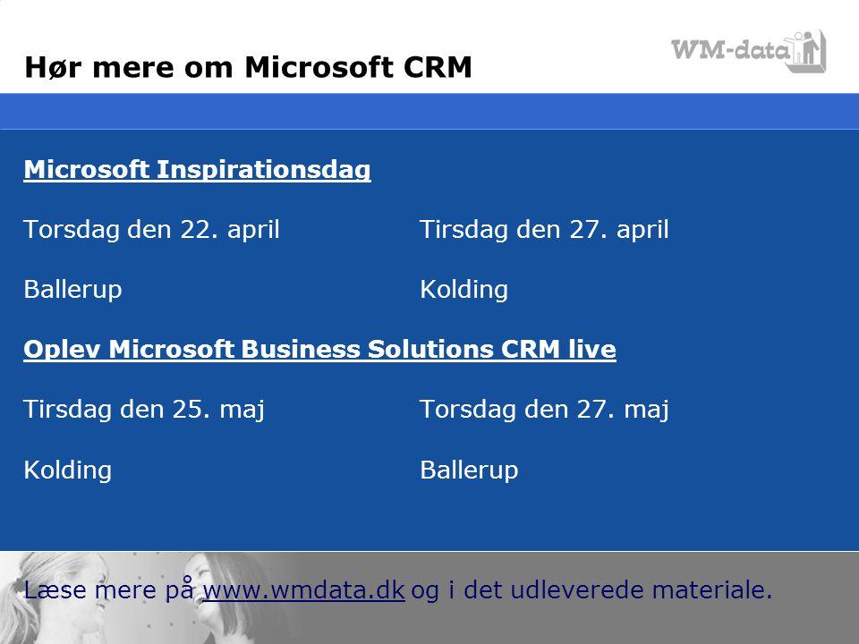 Hør mere om Microsoft CRM