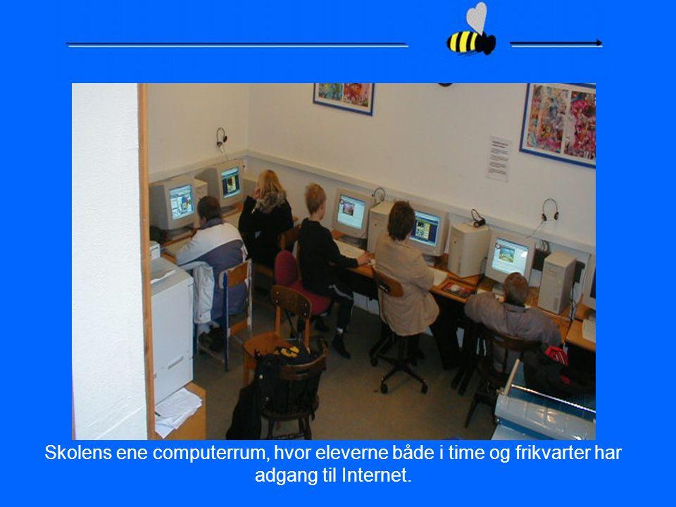 Skolens ene computerrum, hvor eleverne både i time og frikvarter har adgang til Internet.