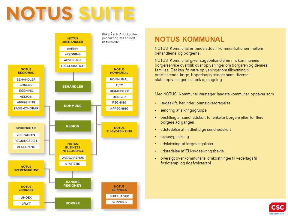 NOTUS KOMMUNAL NOTUS Kommunal er bindeleddet i kommunikationen mellem behandlerne og borgerne.