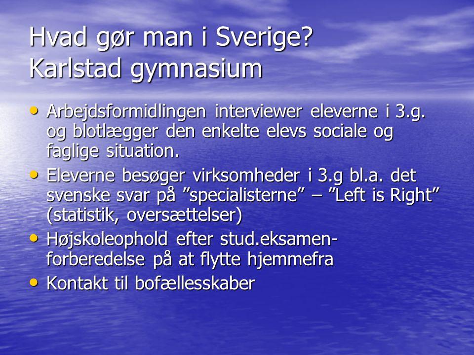 Hvad gør man i Sverige Karlstad gymnasium