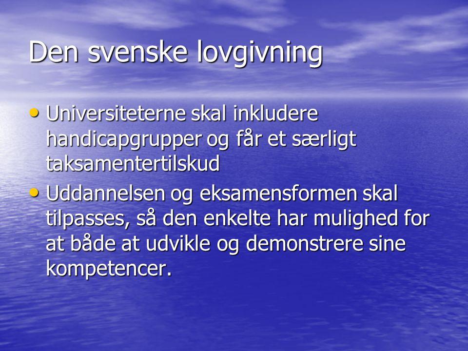 Den svenske lovgivning
