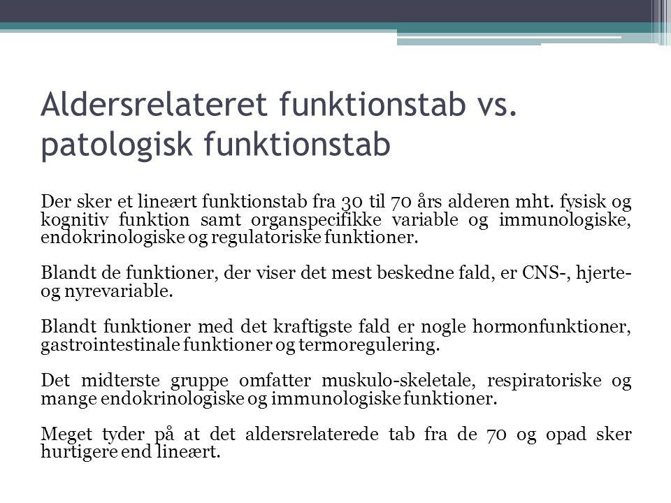 Aldersrelateret funktionstab vs. patologisk funktionstab