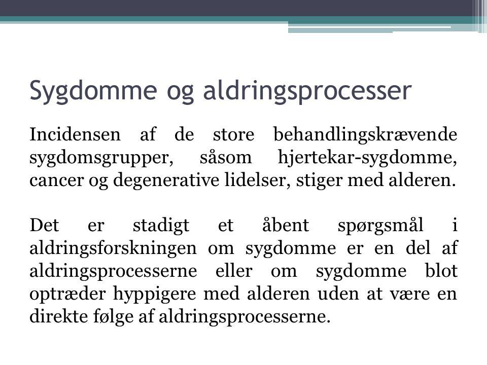 Sygdomme og aldringsprocesser