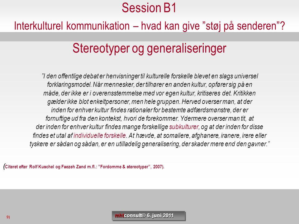 Stereotyper og generaliseringer