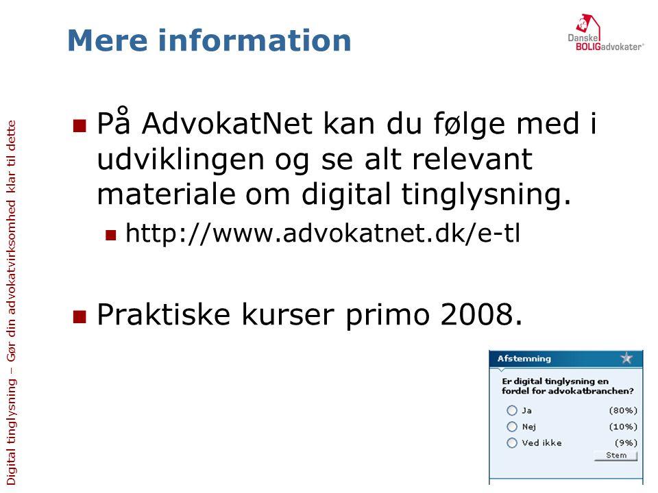 Praktiske kurser primo 2008.
