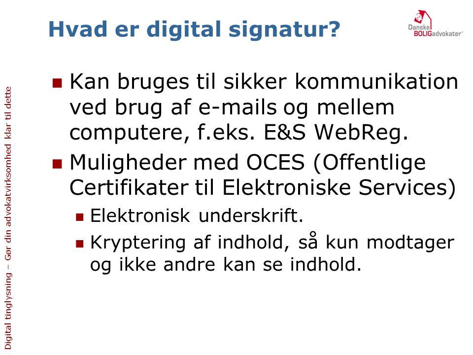 Hvad er digital signatur