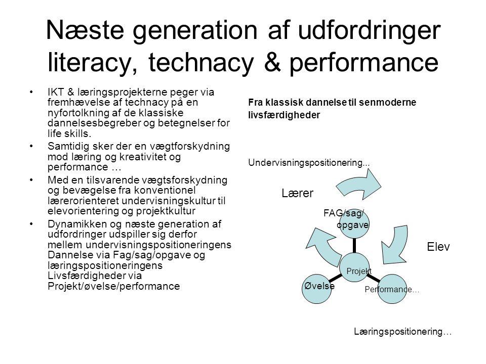 Næste generation af udfordringer literacy, technacy & performance