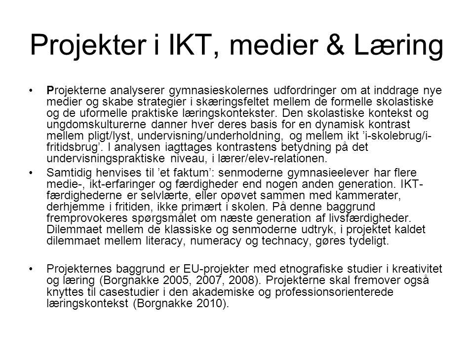 Projekter i IKT, medier & Læring