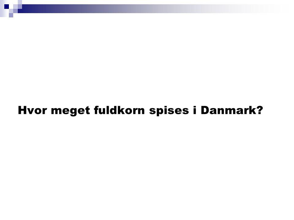 Hvor meget fuldkorn spises i Danmark