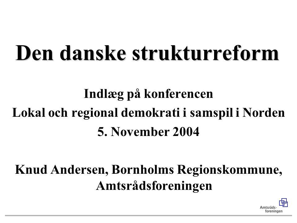 Den danske strukturreform