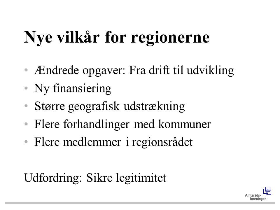 Nye vilkår for regionerne