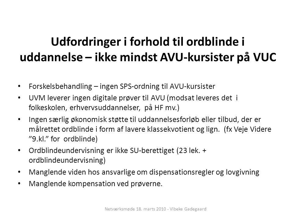 Netværksmøde 18. marts 2010 - Vibeke Gadegaard